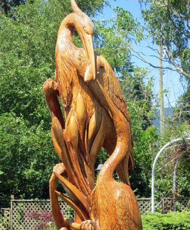 Woodcarvings in Hope BC