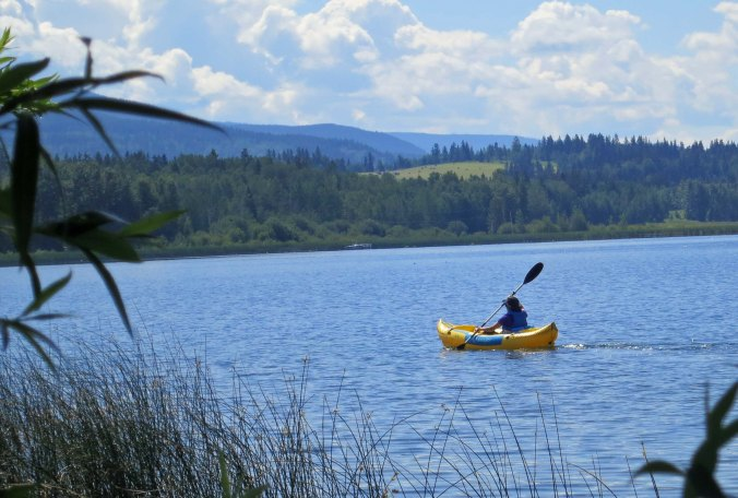 Peggy decided to go kayaking on beautiful Dragon Lake near Quesnel BC for her birthday.