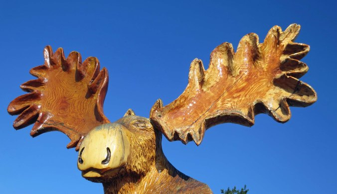 Chainsaw carving in Chetwynd, BC