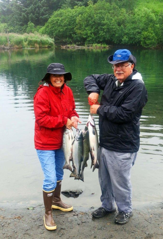 Pink Salmon catch on Kodiak Island.