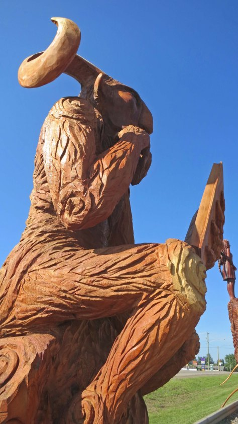 Chainsaw woodcarving in Chetwynd, BC