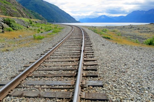 Turnagain Arm and the Alaska Railway.