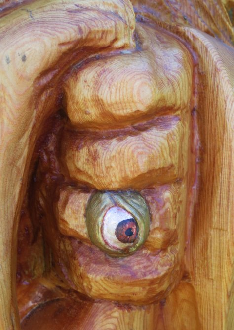 Chainsaw woodcarving in Hope BC