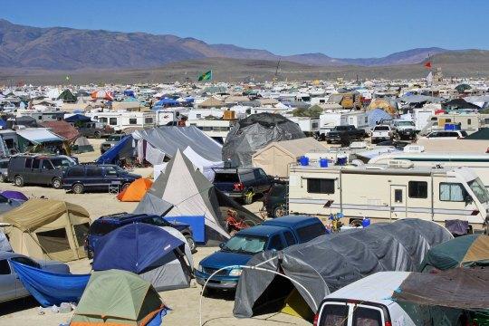 Burning Man's Black Rock City in the remote northern Nevada Desert.