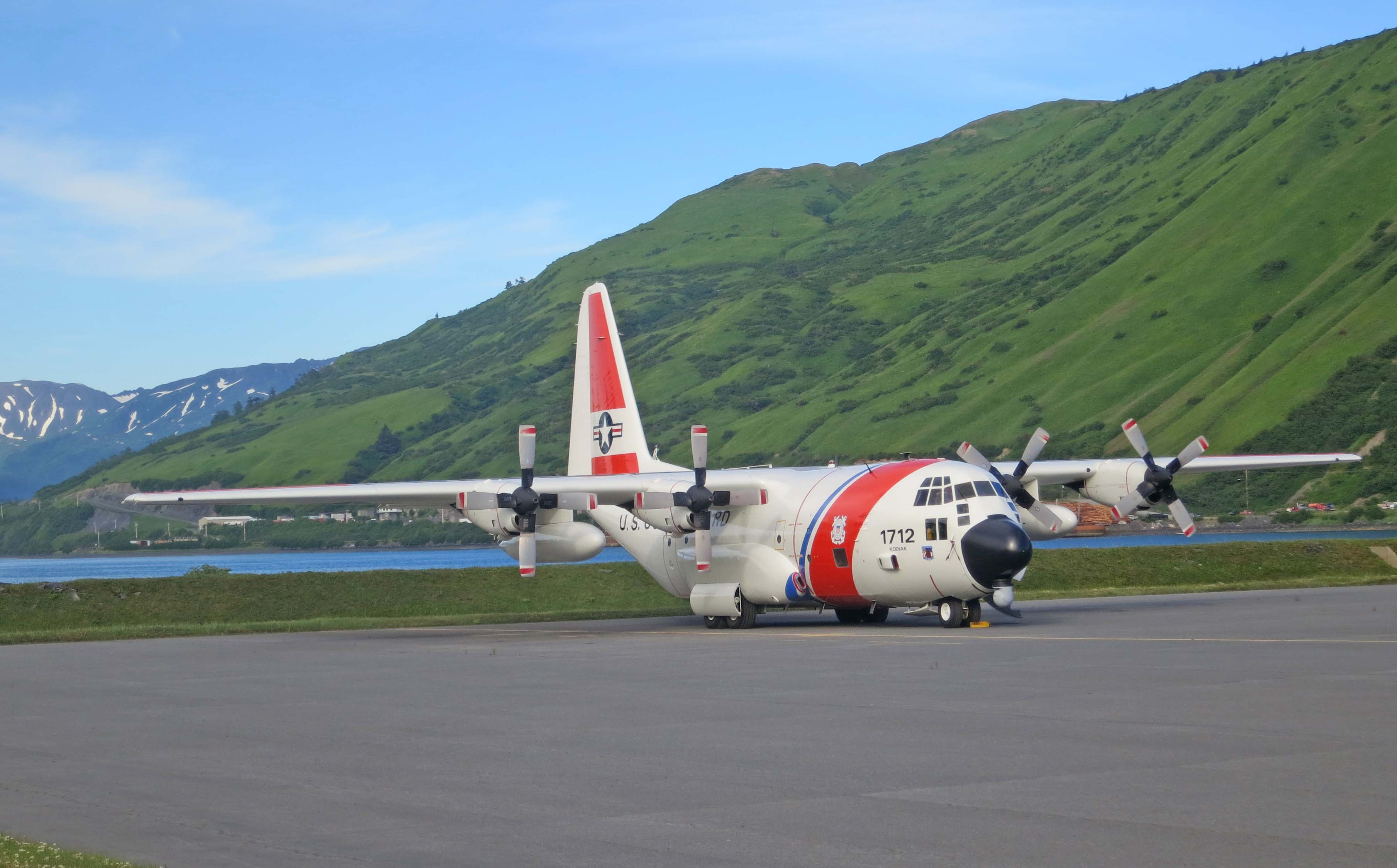 The fixed-wing C-130 also flies out of the Kodiak Air Station.