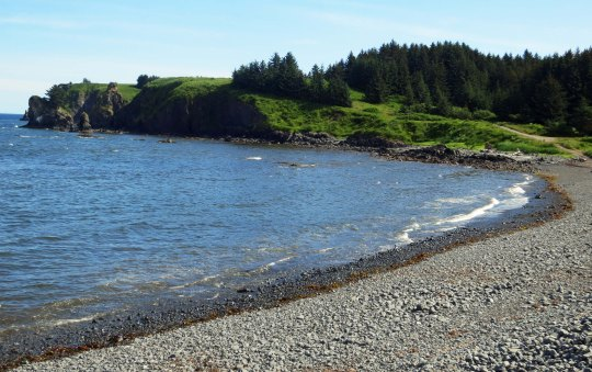 Does it really matter whether you catch fish or not when this is your setting? Cape Chiniak, Kodiak.