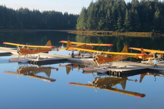 A few weeks before our visit, Tony, his wife Cammie, and their children had toured Kodiak in one of these floatplanes.