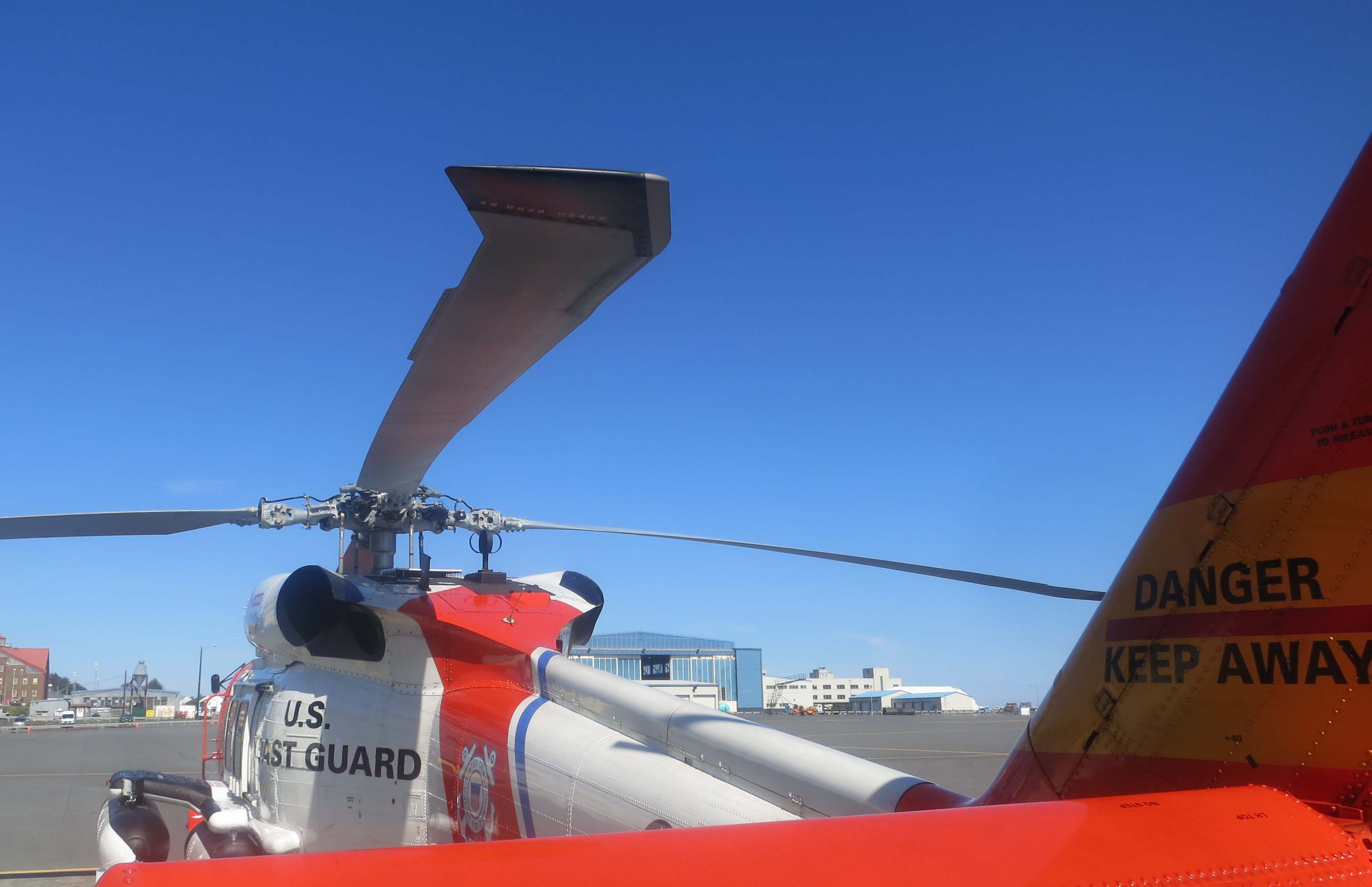 H-60 ready to fly at Coast Guard Station in Kodiak, Alaska.