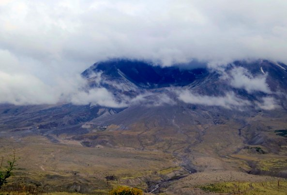 Mt. St. Helens in August, 2013. Peggy and I were looking down into the crater from the Johnston Ridge Observatory.