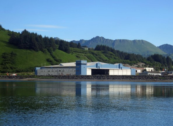 The Coast Guard's helicopter hangar/maintenance facility on Kodiak Island.