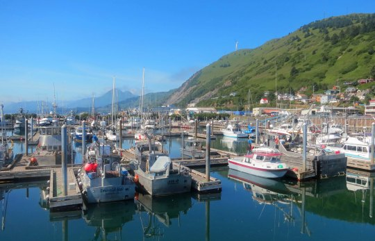 Kodiak, Alaska fishing harbor.