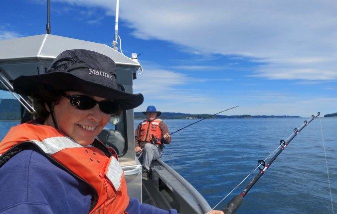 Fishing in Chiniak Bay off the coast of Kodiak, Alaska.