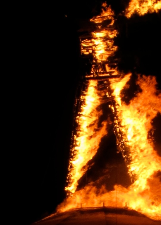 The Burning of the Man at Burning Man (and lots of other stuff) represents the impermanence in life. But it also represents rebirth...