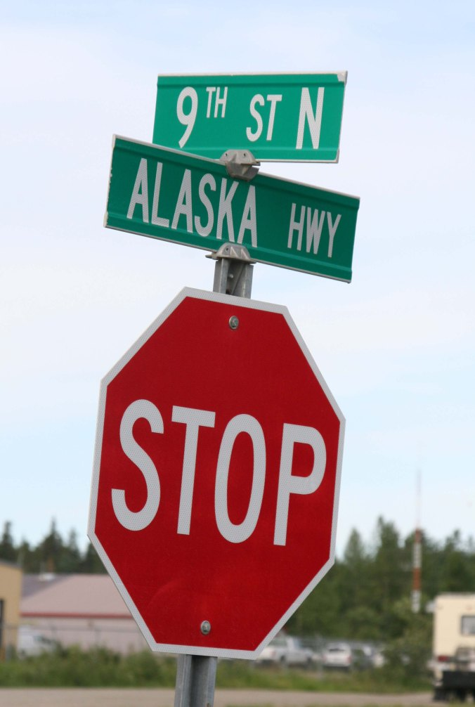 Just outside of the sign forest, we stopped at the corner of 9th Street and the Alaska Highway. It was time to continue our journey.