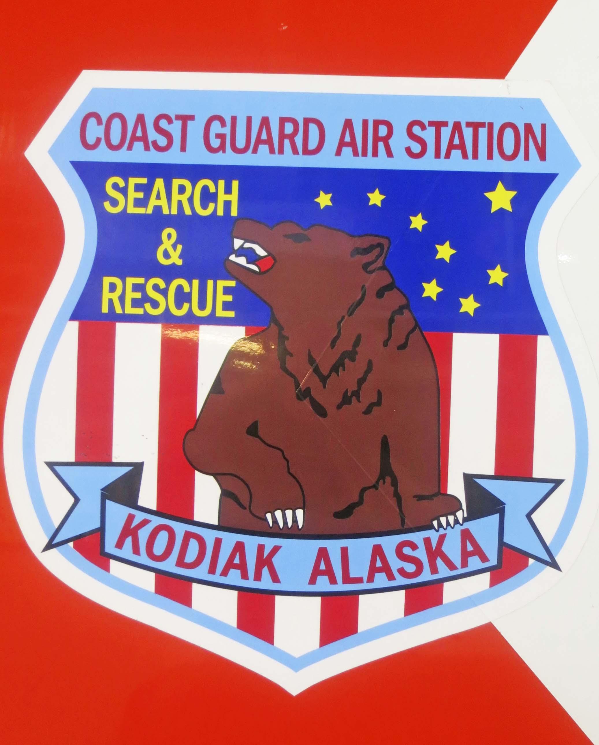 The Coast Guard Air Station on Kodiak rightly features a Kodiak Bear on its logo.