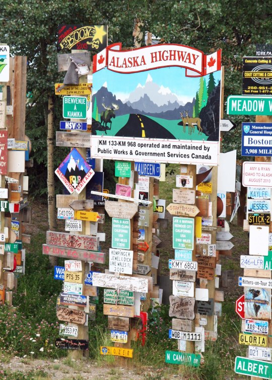 Speaking of the Alaska Highway, it was also featured in the forest.