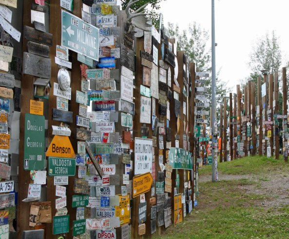If you look closely, you just might find your hometown among the 70,000 signs of Watson Lake.