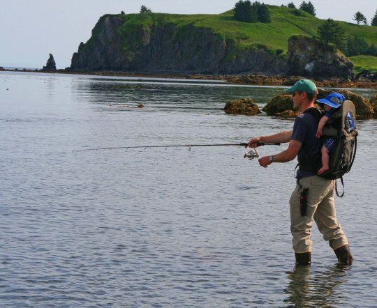 Fishing on the the Chiniak Peninsula.