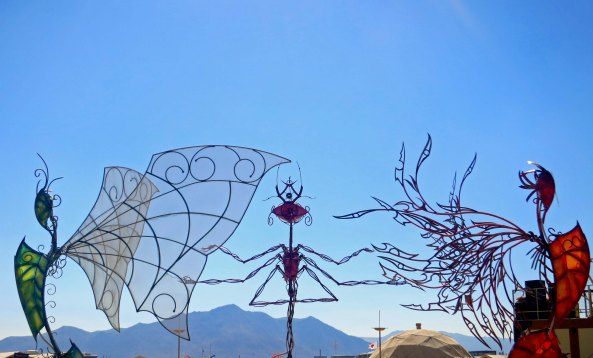 Back roads art at Burning Man 2013