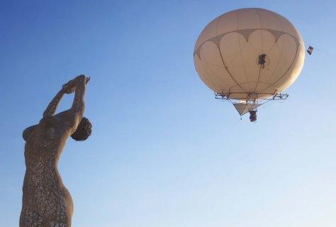 Camera photography by balloon at Burning Man 2013.