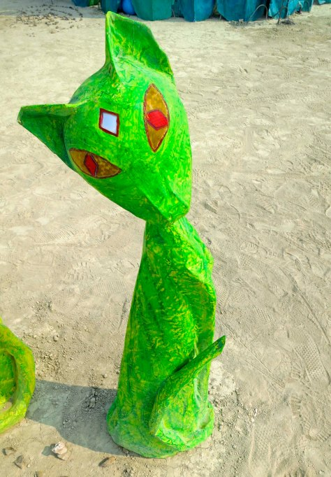 Cats created by Kathy D'Onofrio at Burning Man 2013