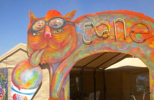 Cone camp at Burning Man 2013