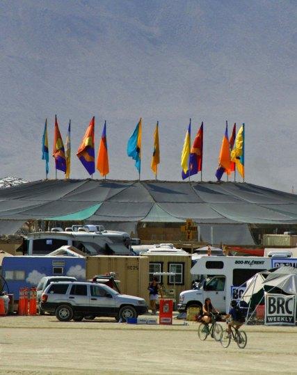 Center Camp Cafe at Burning Man 2013