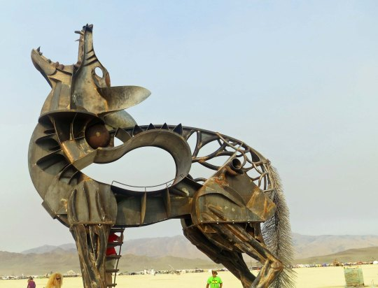This seven ton coyote was also a major attraction at Burning Man 2013. More later...