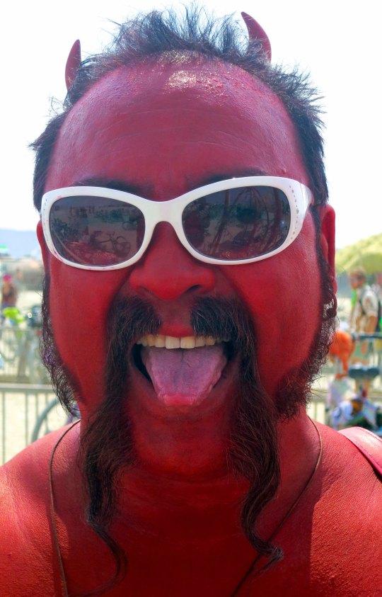 El Diablo at Burning Man 2013.