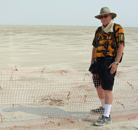 Crossing the fence at Burning Man