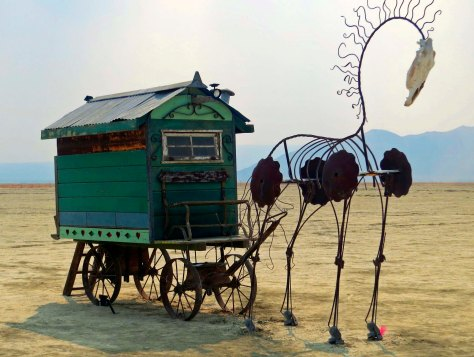 The camp of Gypsy Rose on far Playa at Burning Man.