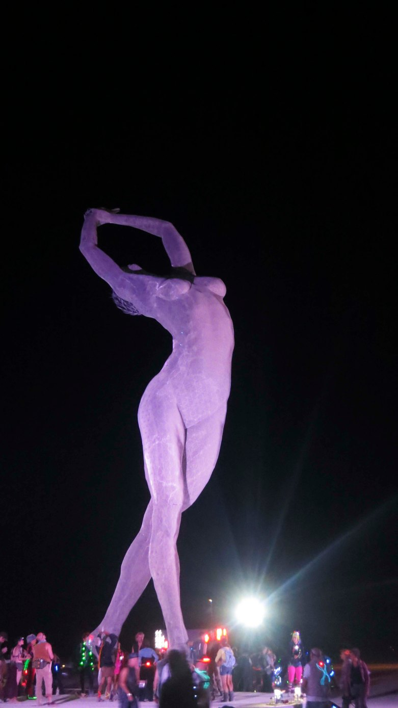 Truth Is Beauty at night during Burning Man 2013.