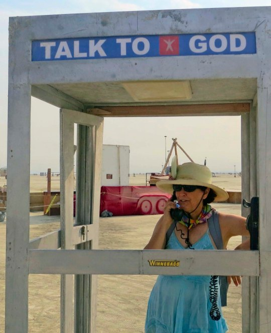 The God telephone Booth at Burning Man 2013.