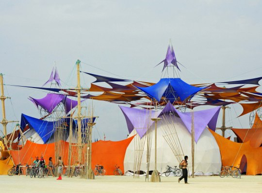 Sacred Spaces Camp at Burning Man 2013.
