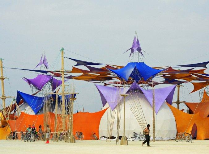 Sacred Spaces Camp at Burning Man 2013.