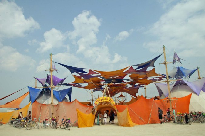 Another view of the Sacred Spaces Camp. (Photo by Tome Lovering.)