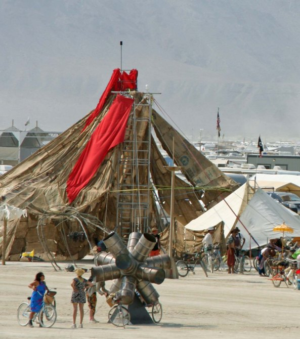 Views along the Esplanade at Burning Man 2013.