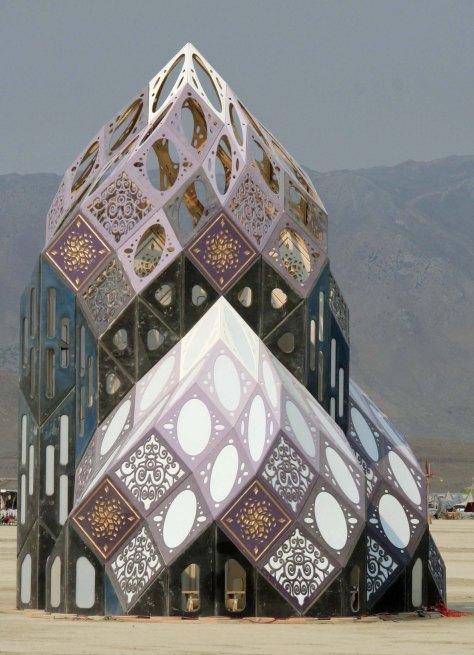 Zonotopia on the Playa at Burning Man 2013.