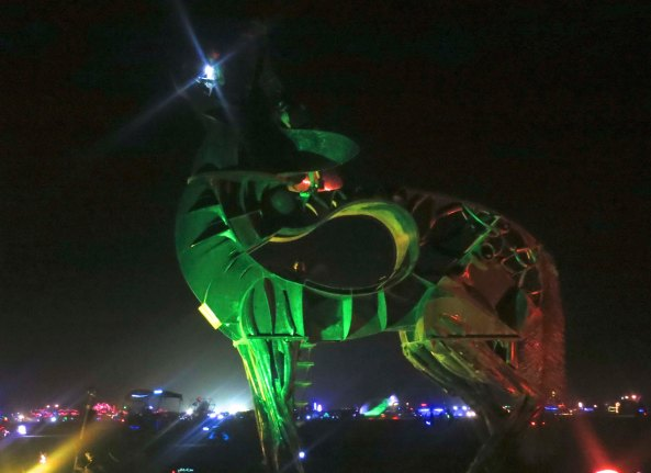 Seven ton coyote at Burning Man.