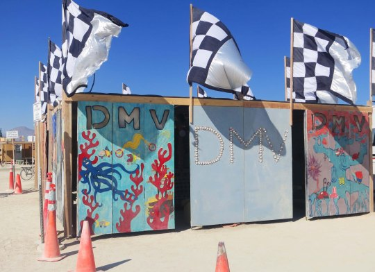 Department of Mutant Vehicles at Burning Man 2013.