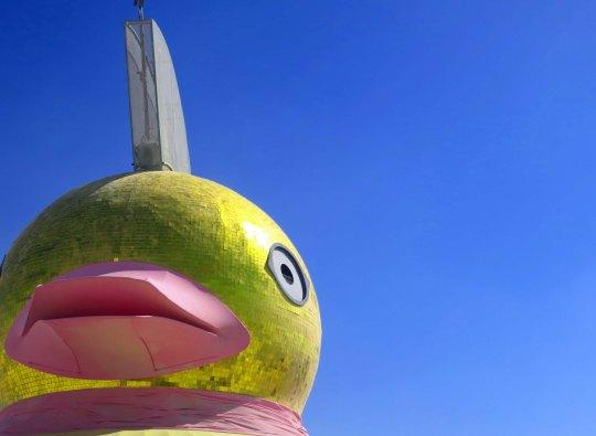 Baby duck mutant vehicle at Black Rock City 2013.