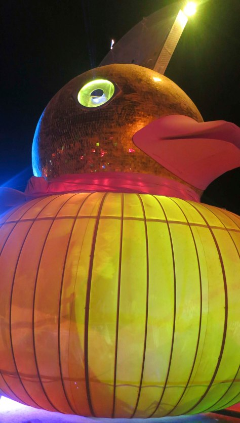 Rubber ducky mutant vehicle at Burning Man 2013.
