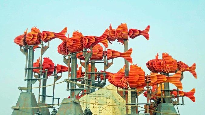 New Orleans regional art at Burning Man 2013.