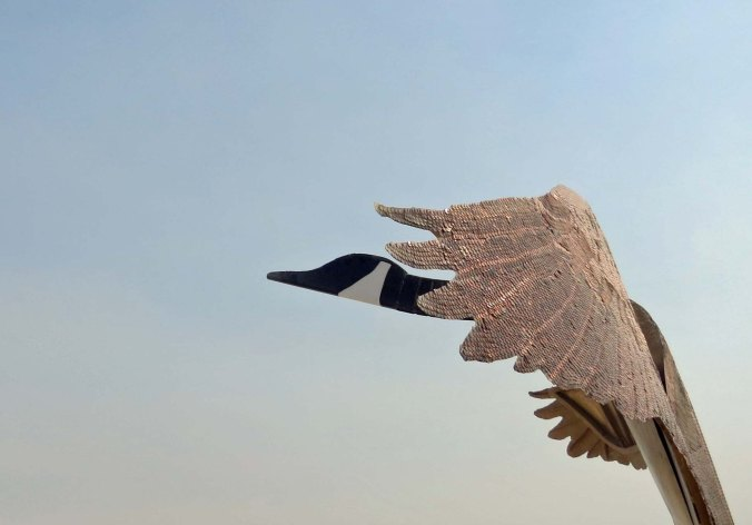 Penny the Goose at Burning Man 2013