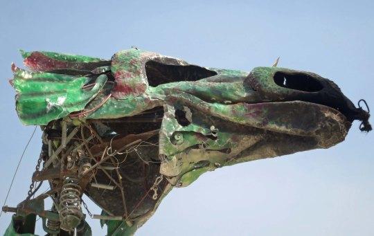 Green dragon at Black Rock City 2013.