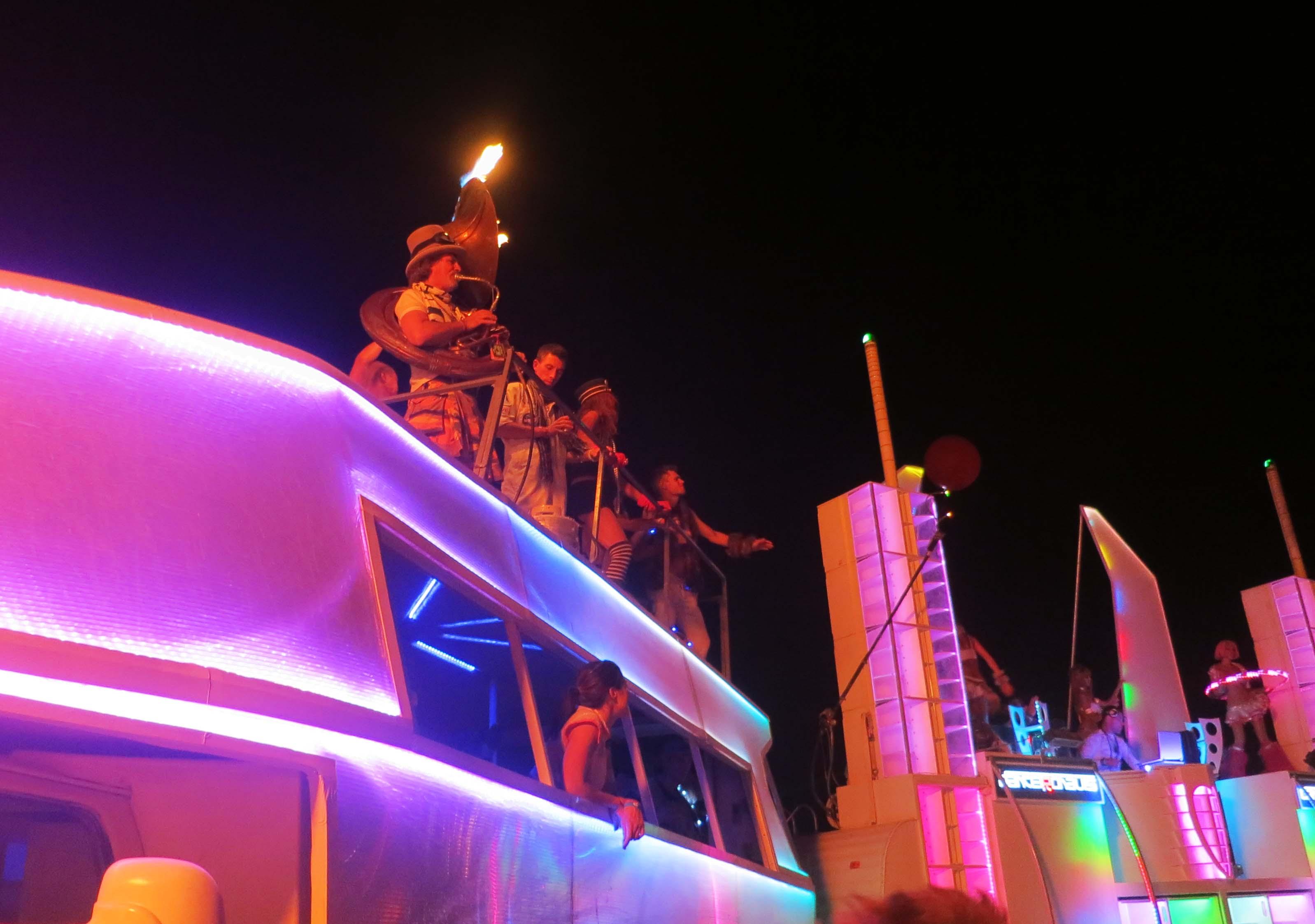 Hot band at Burning Man 2013.