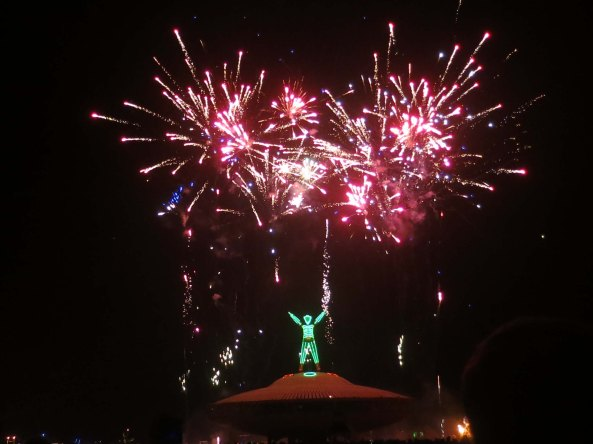 Fireworks at Burning Man 2013