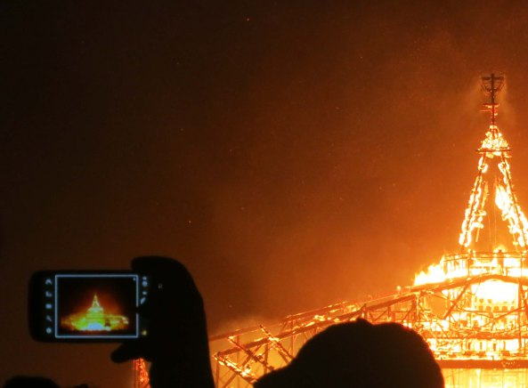 The burn of the Man at Burning Man is photographed thousands of times in any given year.