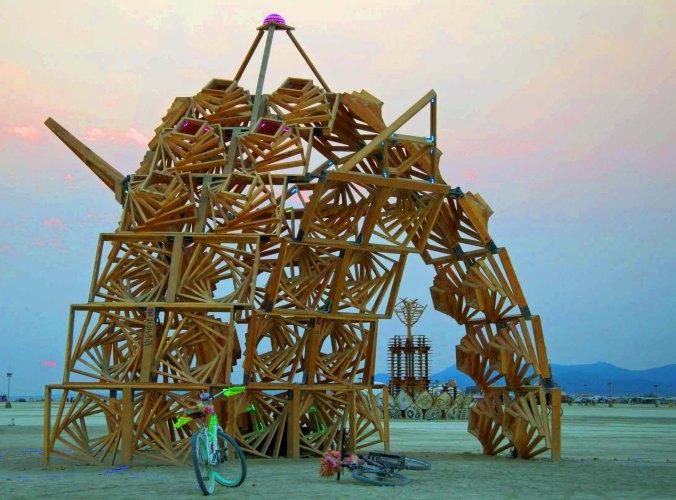 Idaho Marvin, regional art at Burning Man 2013.