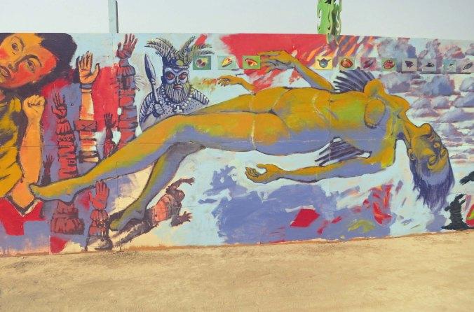 Mural at Burning Man 2013.